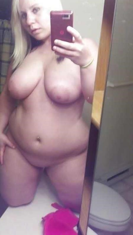 BBW dating selfies